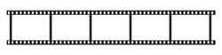 Filmstrip mockup icon isolated. Vector illustration