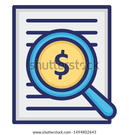 Financial analysis, investment analysis Vector Icon