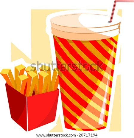 finger chips and drinks