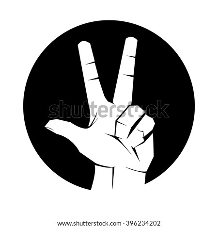 3 fingers icon finger icon