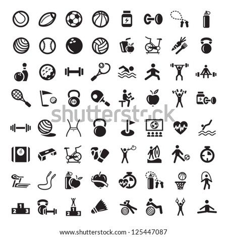 64 fitness and sport vector