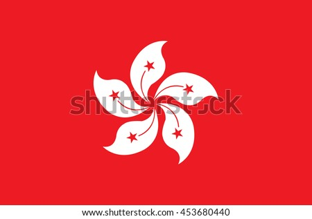 flag of country of Hong Kong in official