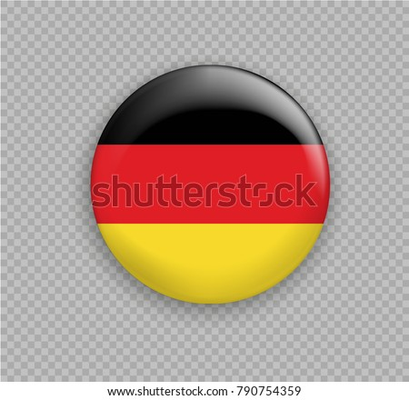 Flag of Germany, the right colors and proportions. Vector illustration. Sign and symbol of freedom and independence