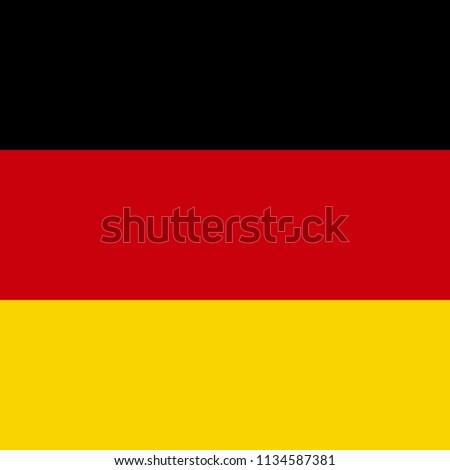 Flag of Germany. Vector illustration. Flat design for business financial marketing banking advertising web concept cartoon illustration.