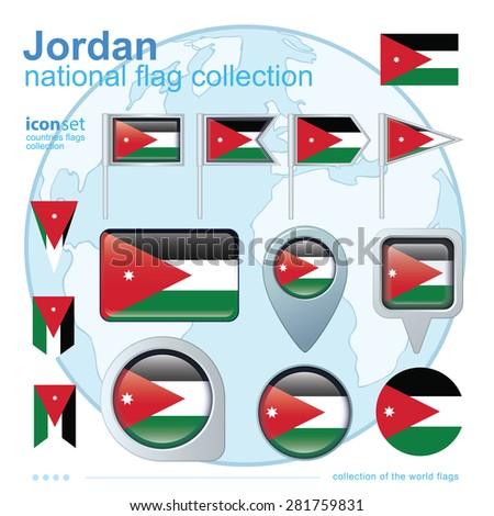 flag of jordan  icon