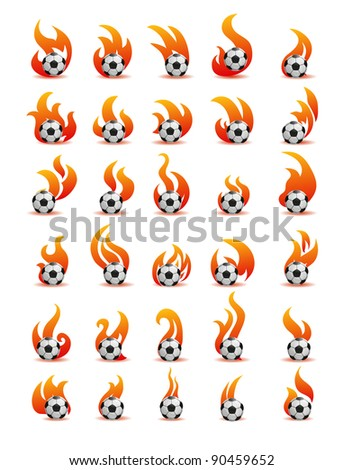 flaming football ball (soccer)