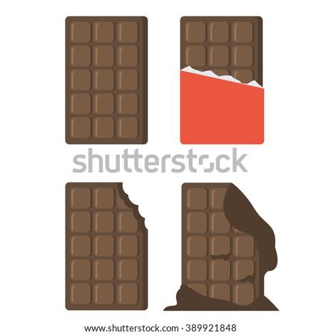 flat chocolate bars icons