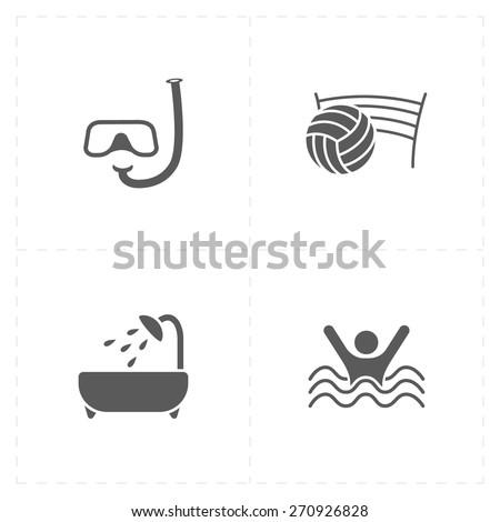 4 flat free travel icons
