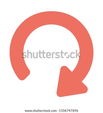 Flat icon Image of redo arrow, web ui button