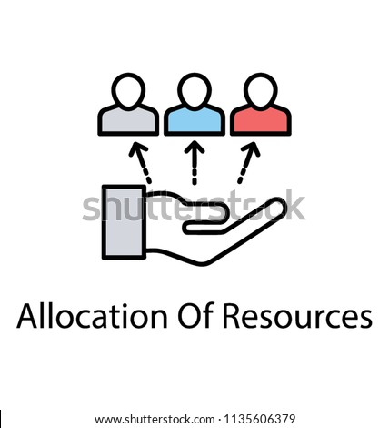 Flat icon resource allocation. Resource management