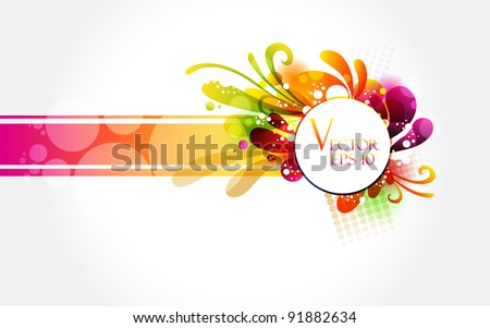 Floral colorful banner
