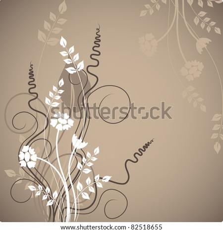 floral design - stock vector