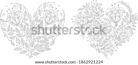 Coloring Pages Of Hearts And Flowers At Getdrawings Free Download