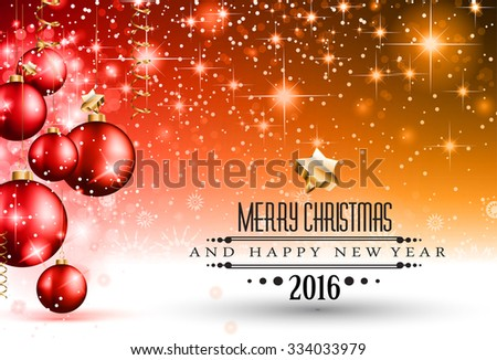 2016 flyer for happy new year background or for your christmas menu templates and greetings card