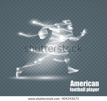 flying lightning  guy football