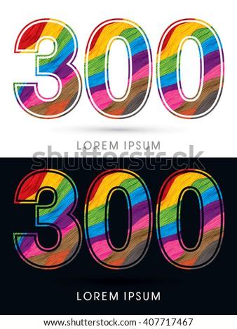 300 font   colorful wave