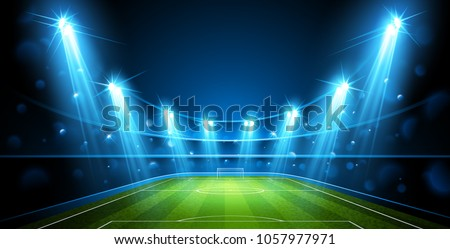 Football Arena. Stadium Public Buildings. Vector illustration