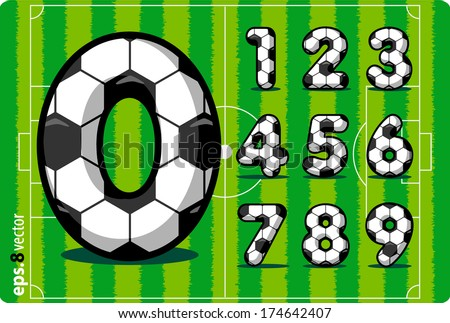 football  soccer  vector set