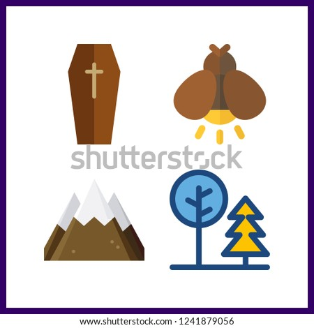4 forest icon vector