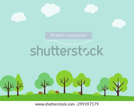 forest trees landscape