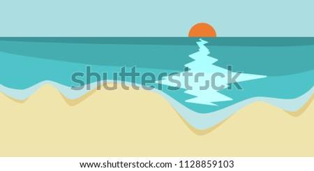 18 9 format vector beach