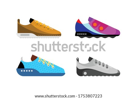 four different modern trainers