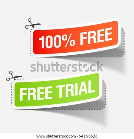 100% free and free trial labels Vector.