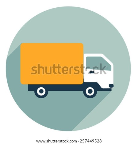 free delivery vector car icon. Logistic transport