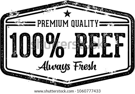 100% Fresh Beef Vintage Butcher Stamp