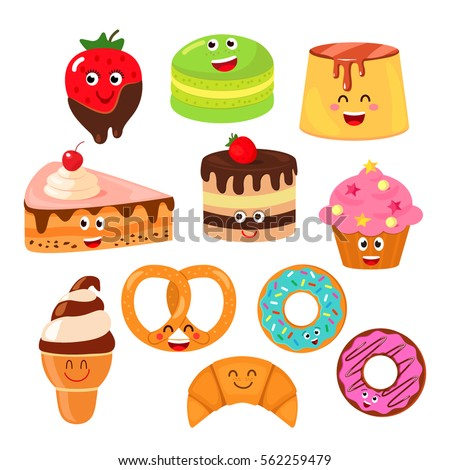 funny characters desserts