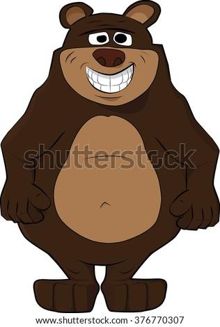funny smiling teddy  bear