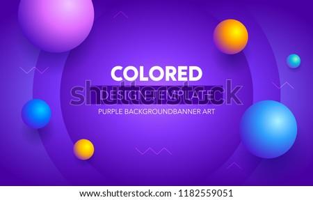 Futuristic gradient geometric background. Liquid color wallpaper design. Banner design template.Colorful   motion background design