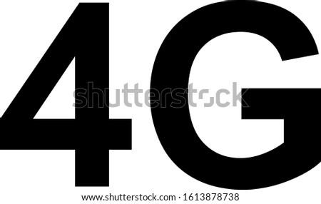4G internet network vector logos for high speed mobile net technology and smartphone UI app design