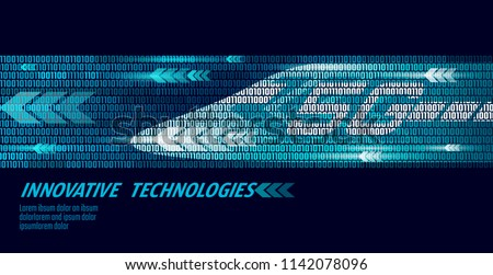 5G new high-speed rail wireless internet wifi concept. Global fast higher railway train. Binary code flow numbers dark blue innovation data rate technology vector illustration