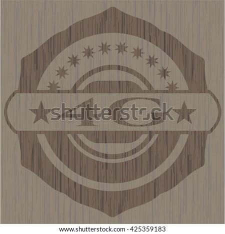 4G retro style wood emblem