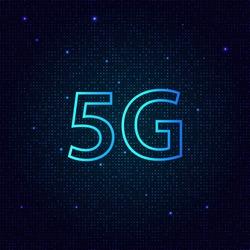 5G standard of modern signal transmission technology. Vector illustration .