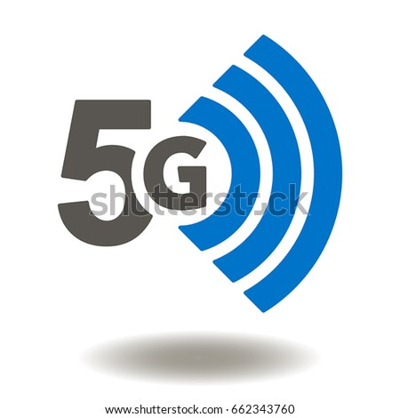 5G Vector Icon. 5th Generation Wireless Internet Network Connection Information Technology Illustration. Mobile devices telecommunication business web networking.