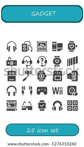 gadget icon set 25 filled