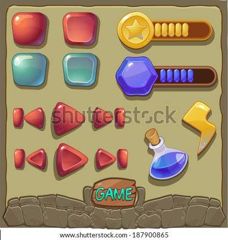 game background with buttons