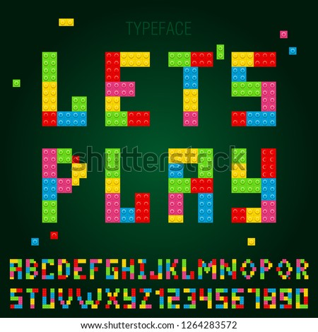 game blocks alphabet  typeface
