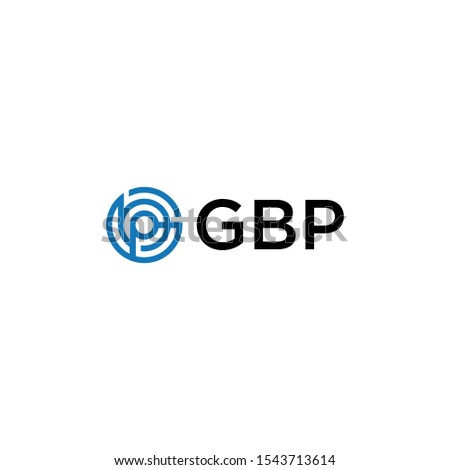 gbp letter with geometric and simple logo vector