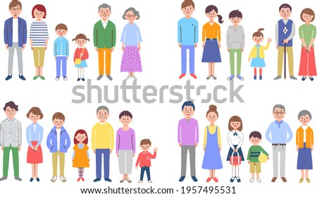 3 generation family 4 pairs set
