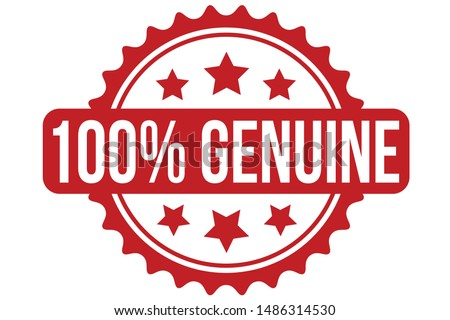 100% Genuine Rubber Stamp. 100% Genuine Stamp Seal – Vector Foto stock ©