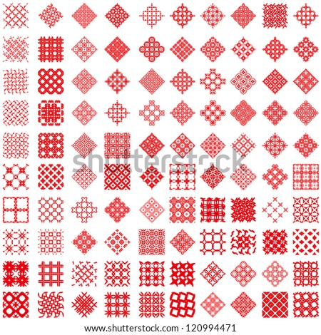 100 geometric background pattern. (vectors)