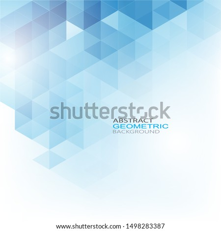 Geometric shaped design of blue hexagons. Brochure Template