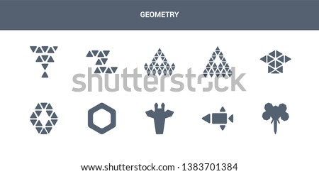 10 geometry vector icons such