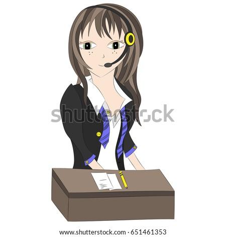 girl in headphonesoperator