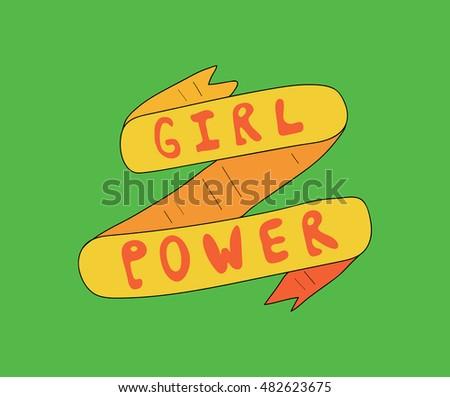girl power. vintage ribbon....