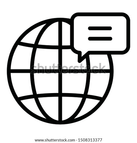 Global access, global business Isolate Vector icon which can easily modify color style or also edit the shape