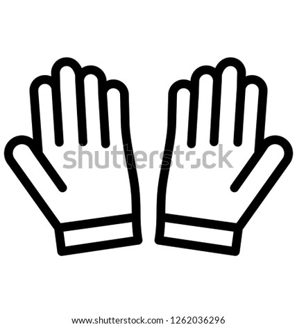 gloves, sports gloves Vector that can be easily modified or edit
